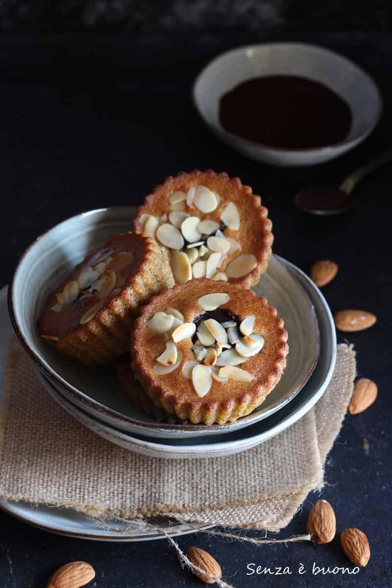 tortine dal cuore morbido nocciole e cacao