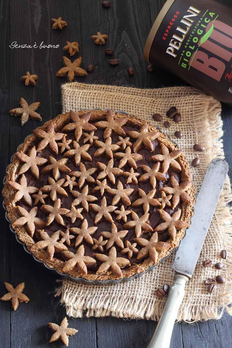 Crostata con frolla al caffè senza glutine vegan