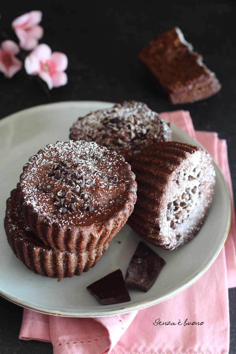 tortine al dioppio cioccolato facili da preparare