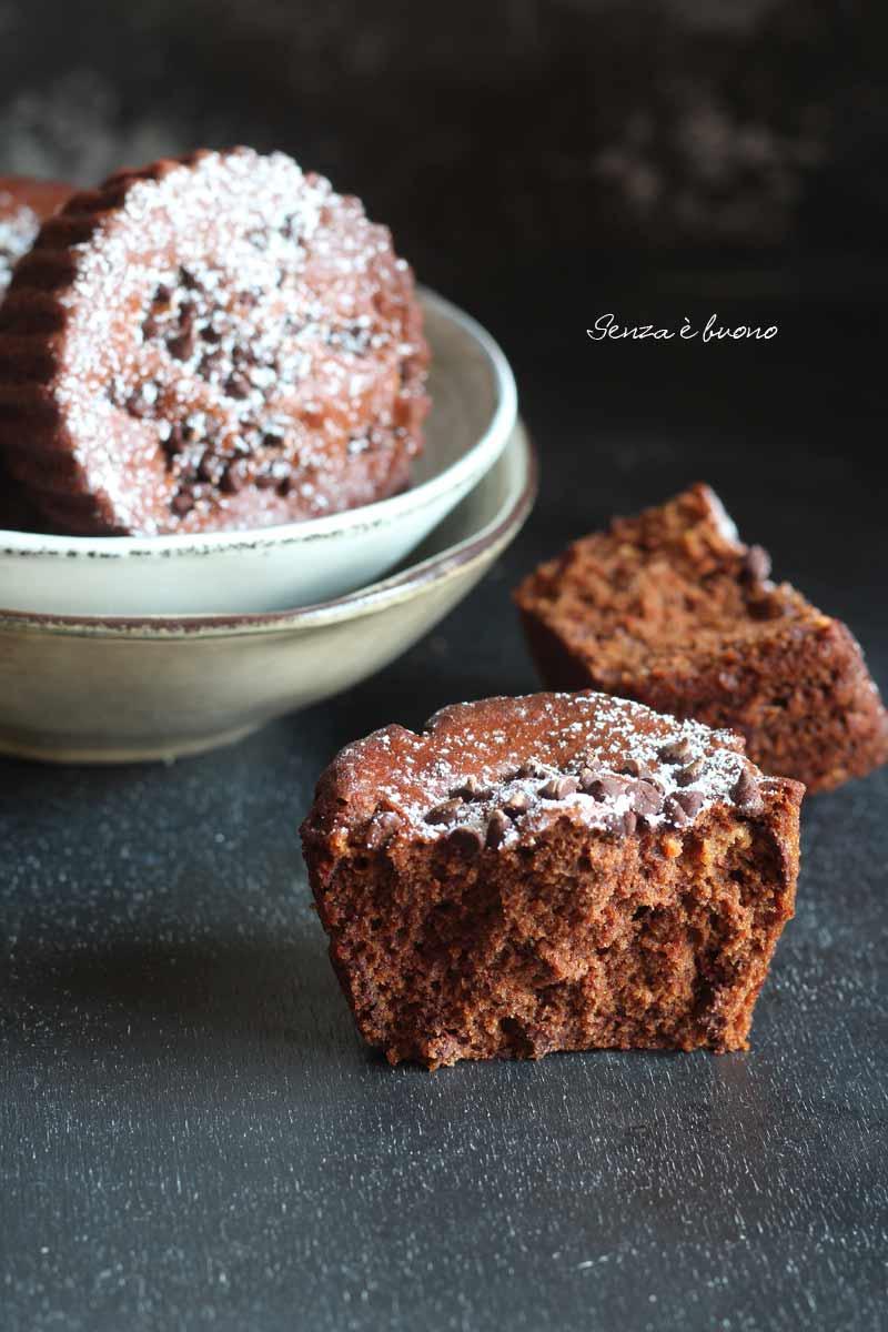 tortine al doppio cioccolato senza glutine