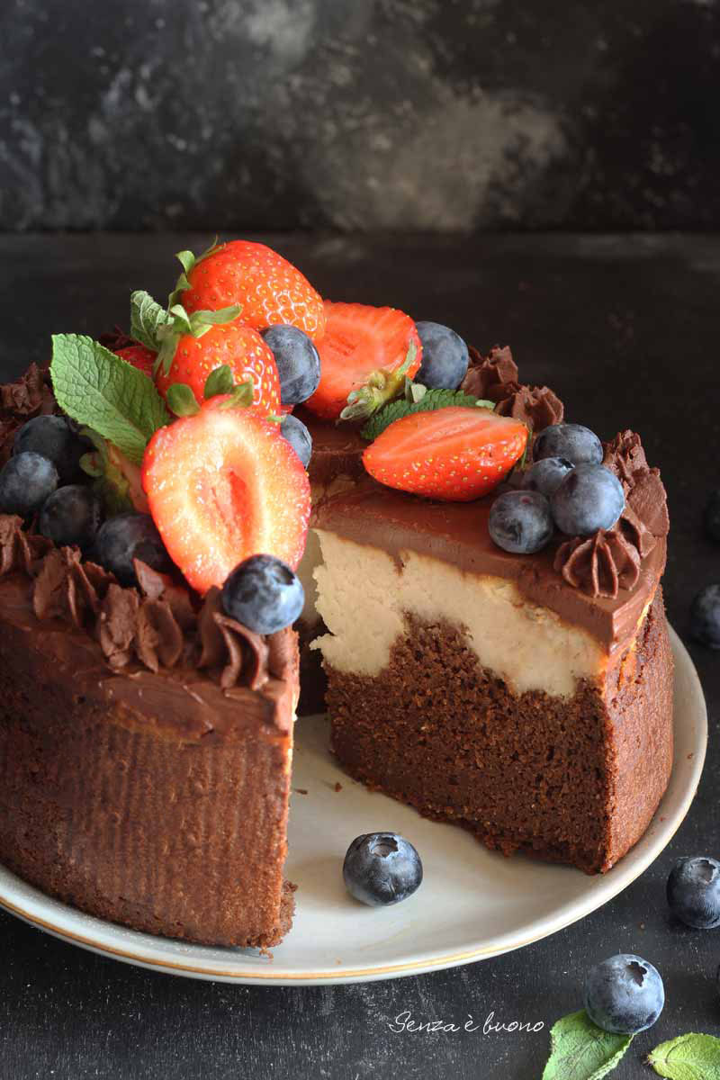 Brownies cheesecake vegan