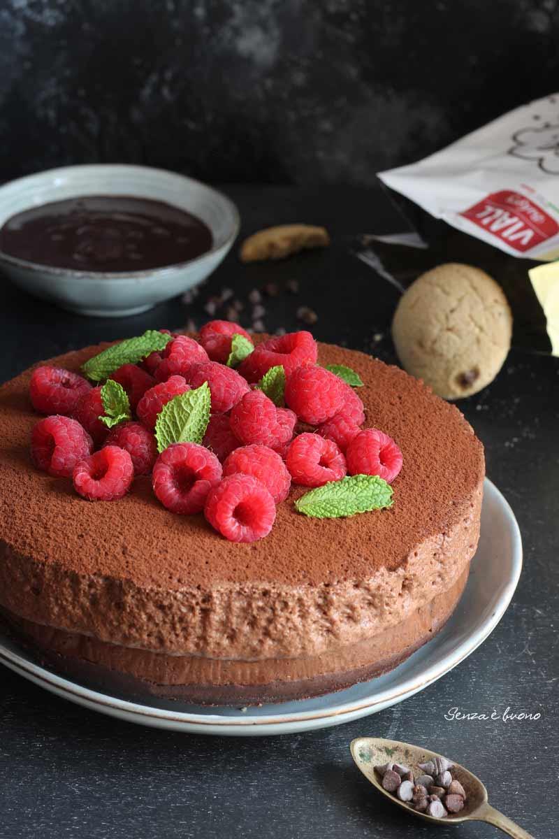 Mousse cake al cioccolato ricetta senza glutine