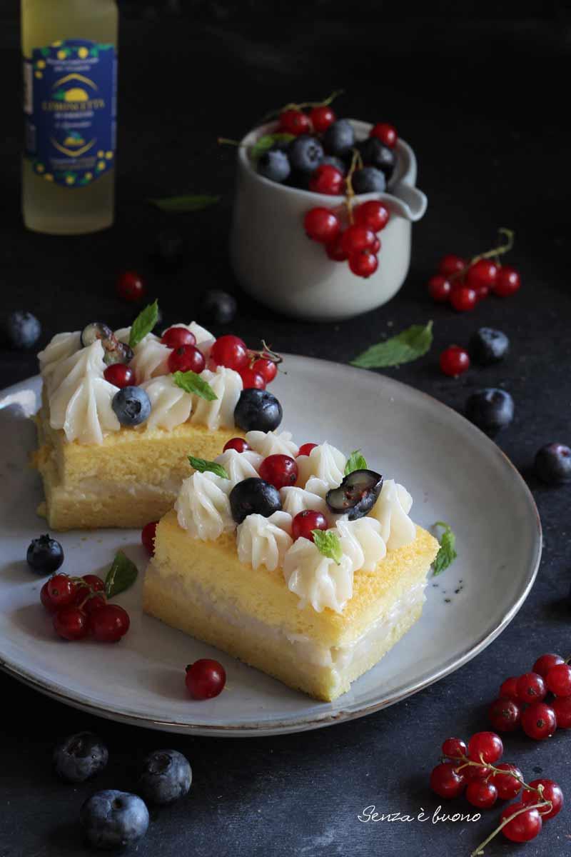 trancetti di torta al limoncello senza glutine senza lattosio