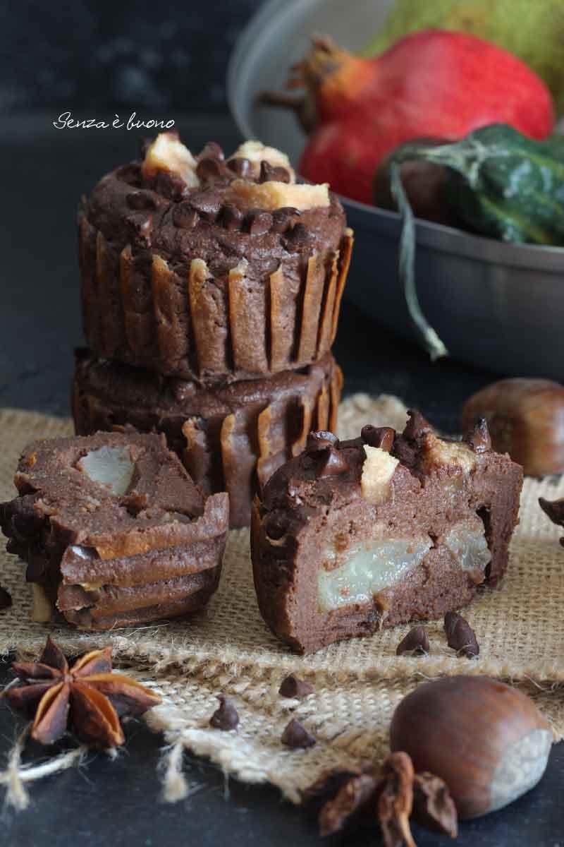 Muffin pere cacao ricetta senza glutine