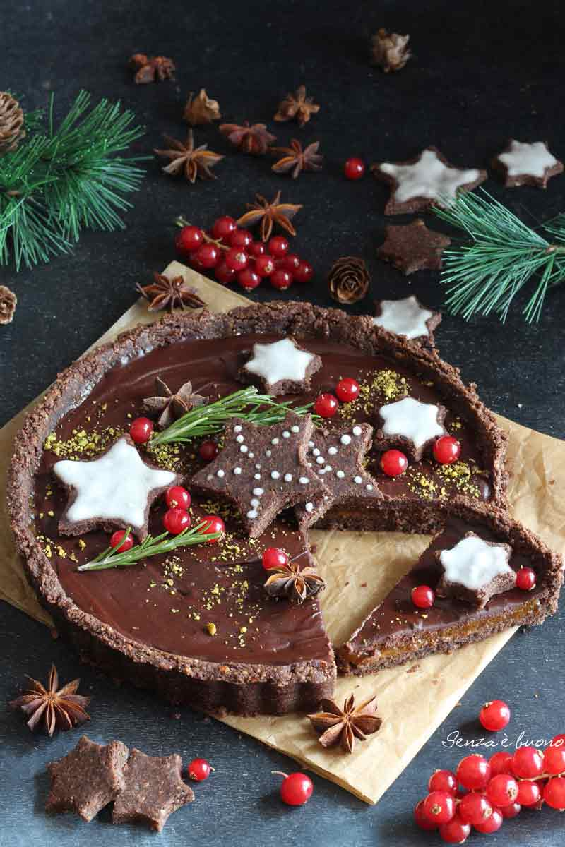 crostata al cioccolato vegan senza glutine ricetta