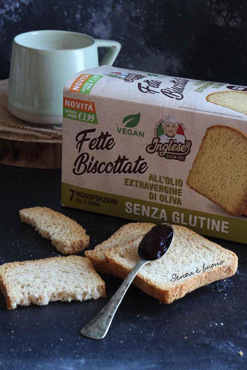 Fette biscottate senza glutine vegan Inglese glutenfree