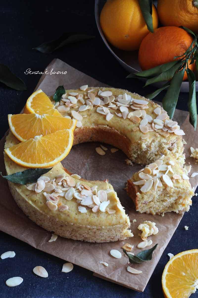 pan d'arancia senza glutine senza lattosio