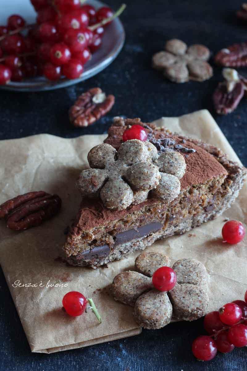 Crostata noci e cioccolato ricetta senza glutine