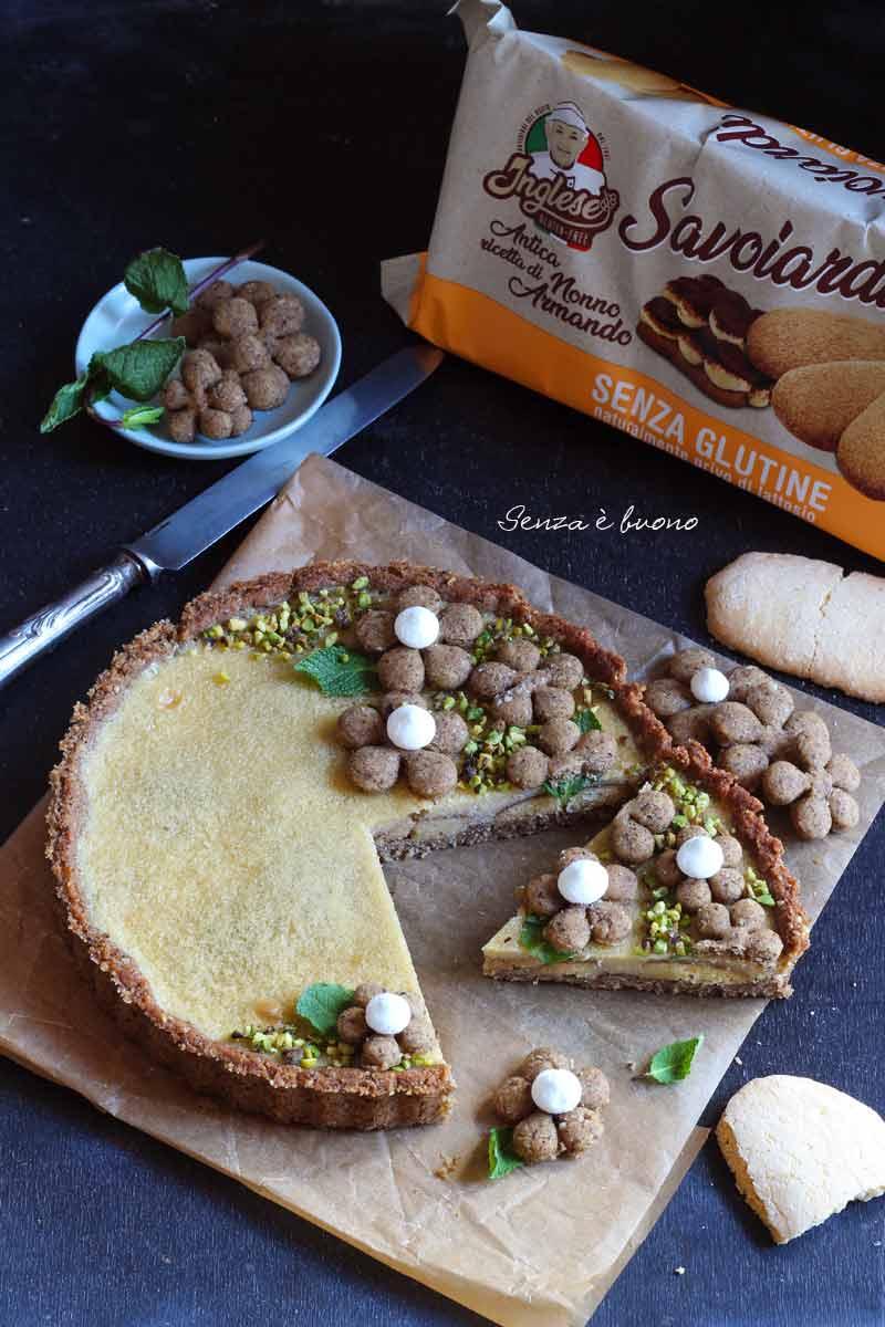 Crostata tiramisù senza glutine ricetta per intolleranti al lattosio