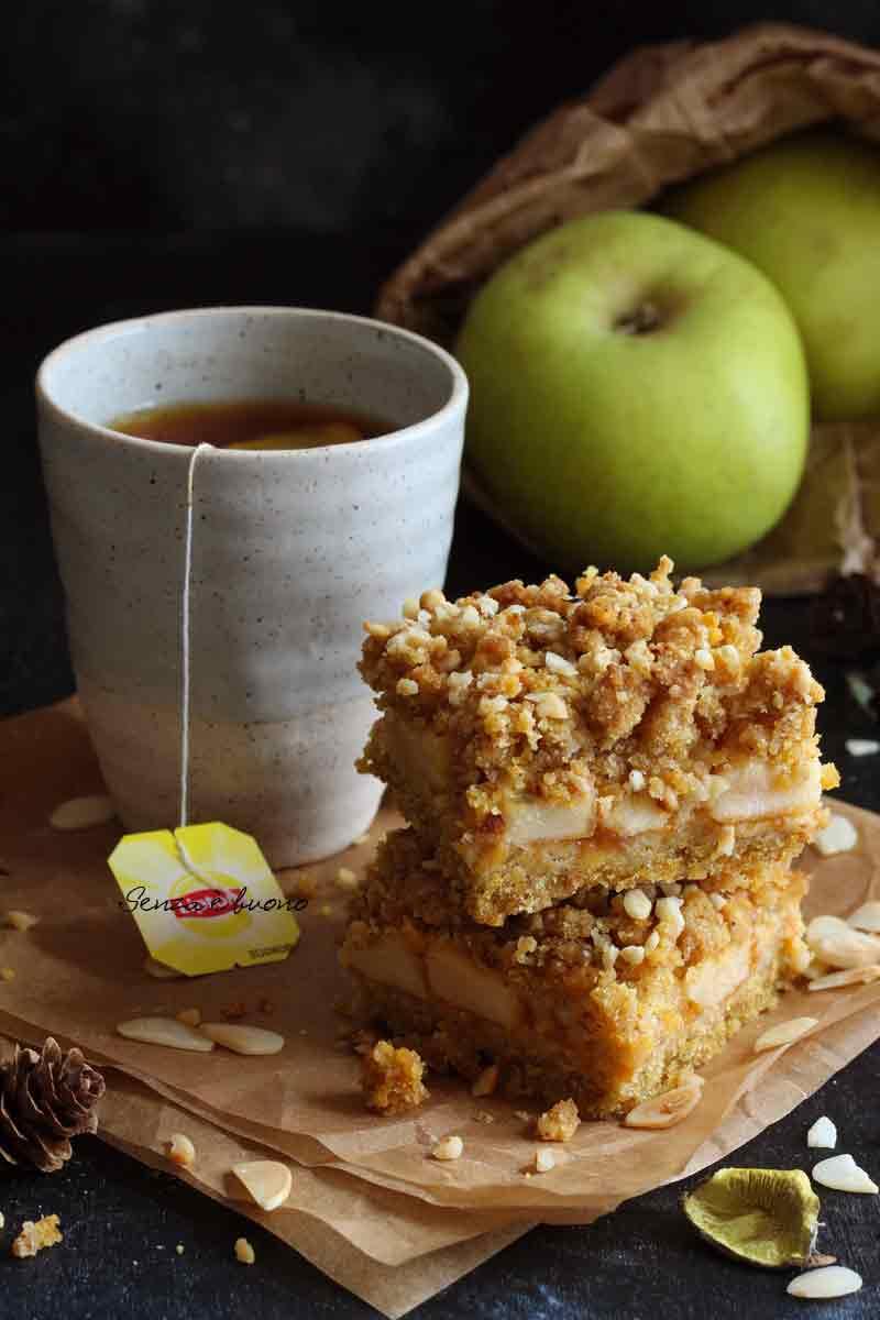 Sbriciolata di mele ricetta per celiaci e intolleranti al lattosio