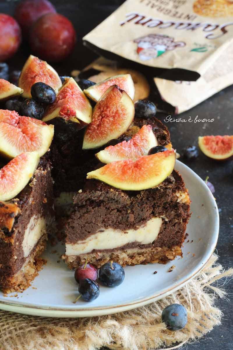 torta giorno e notte senza glutine vegan