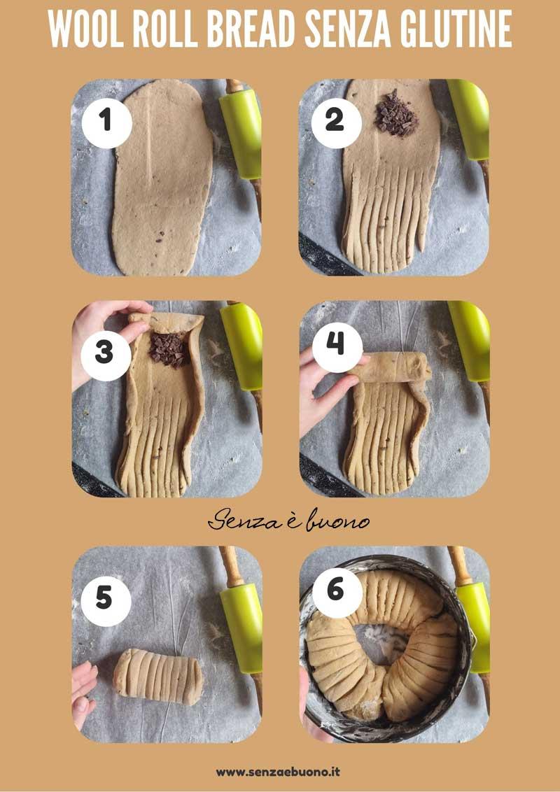 Brioche gomitolo di lana senza glutine