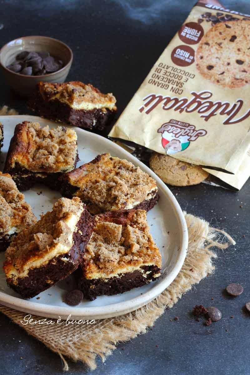 cookies cheesecake brownies senza farina