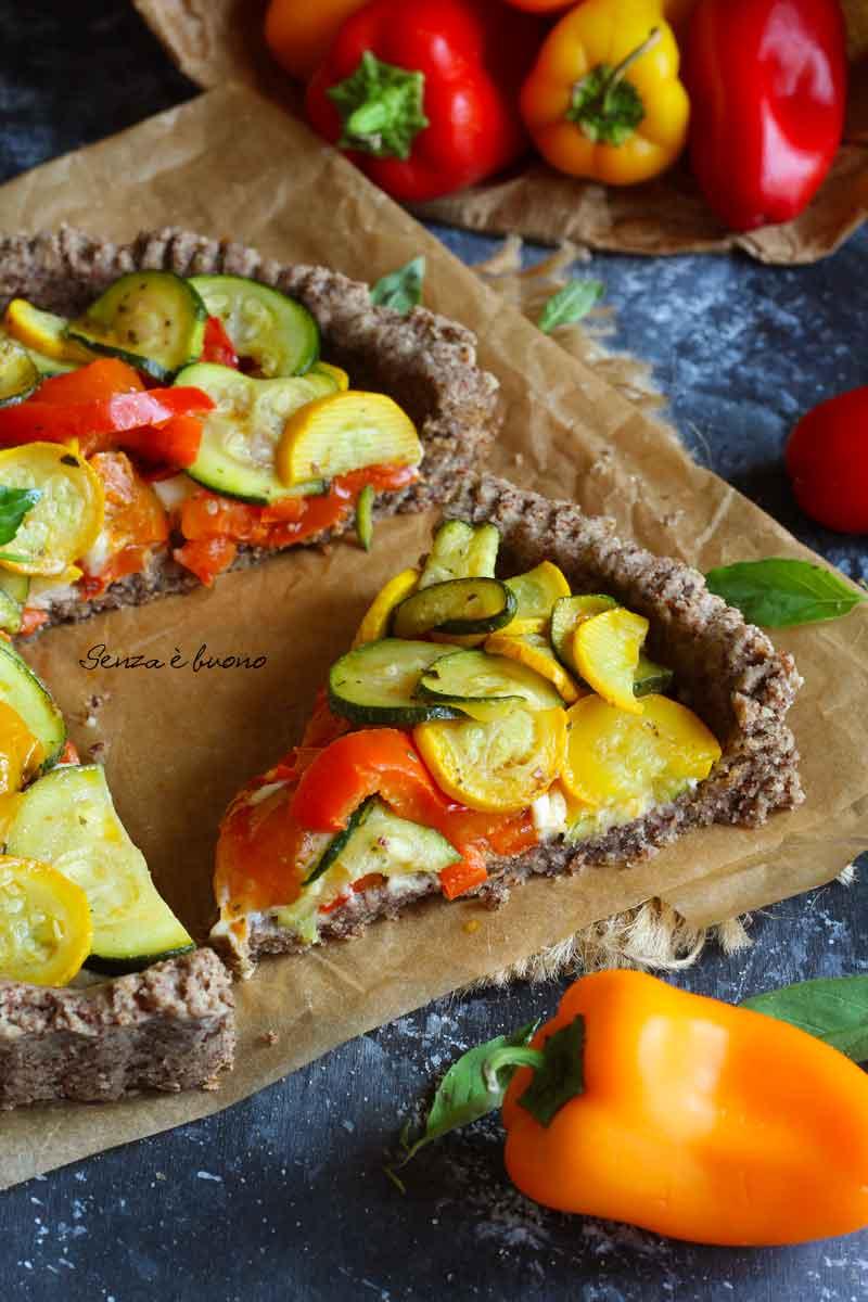 Ricetta crostata salata di verdure senza glutine