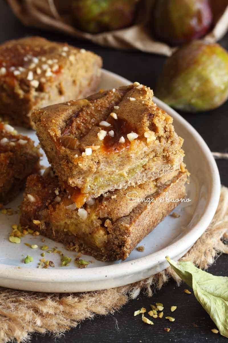 torta fichi e nocciole senza glutine