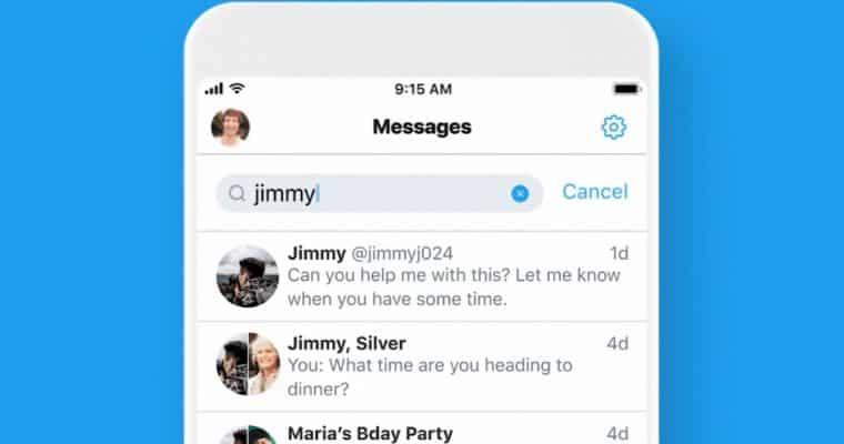 تويتر تضيف ميزة البحث إلى الرسائل الخاصة