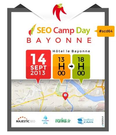 Seo Camp Day Bayonne le 14 septembre 2013 à l'hôtel Le Bayonne