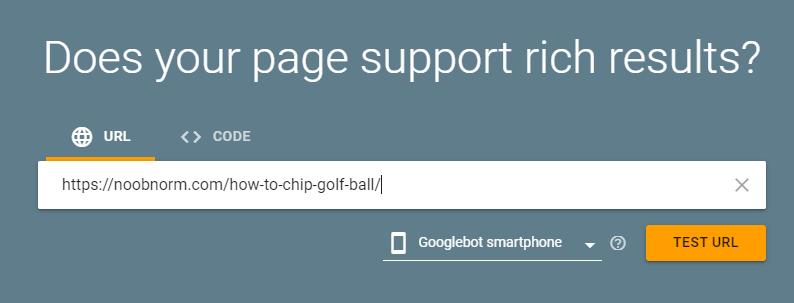 rich results test URL