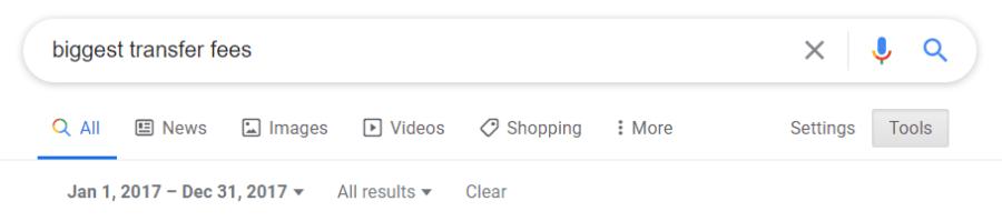 google date filter