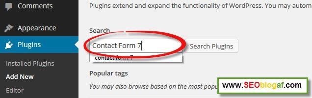 Cara Menambahkan Form Kontak di Blog WordPress Plus Setting