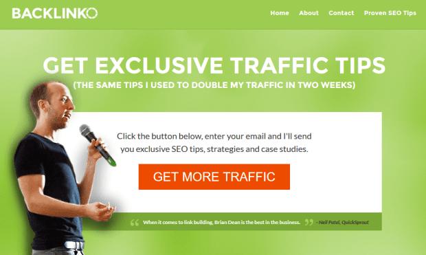 Backlinko header blog keren