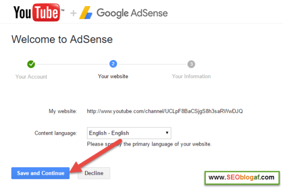 Daftar youtube adsense