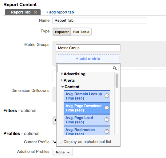 Creating a Custom Report