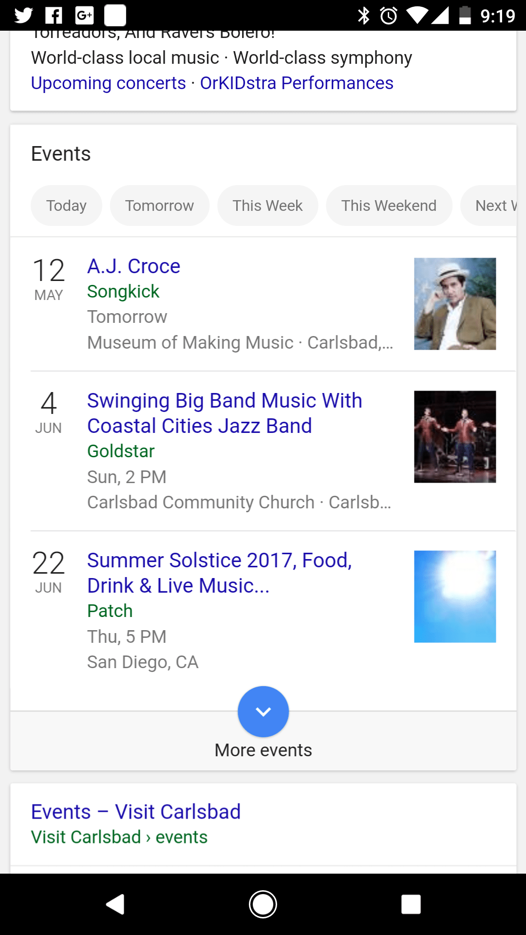 Google Music Events Near Me