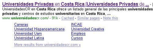Site Links de Google