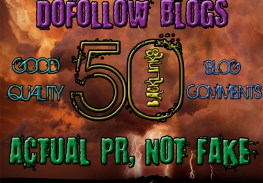 I will create 50 highpr blog comment backlinks do follow PR2 to PR6