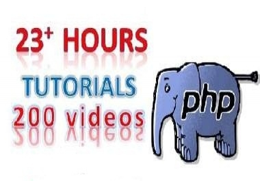 give BEGINNER 200 Video Tutorials for Learn A to Z php Website Design