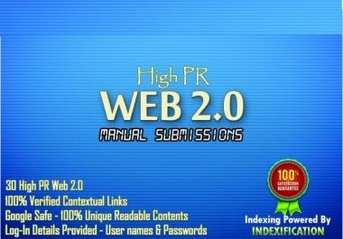 Generate 15 High PR web2 blogs along with 15 High PR social bookmarking
