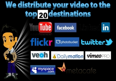 Supply 20 Video submissions for your seo