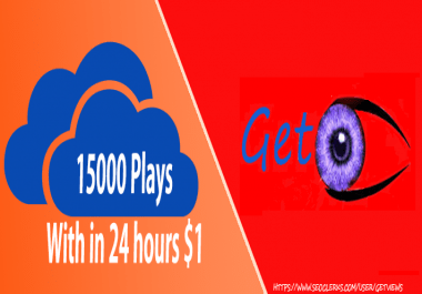 15000 Plays to your track with in 24 hours