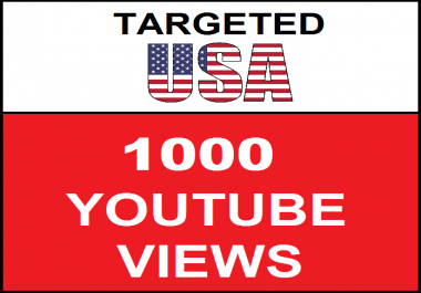 Added 1,000 USA Geo Targeted  Youtube Views