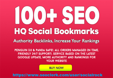 Create 100 High Page Rank 2 to 10 Bookmarks Very High Quality Service