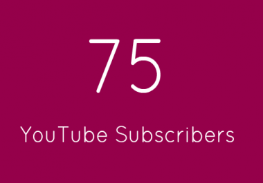 75+ High Quality Subscribers Within 24 Hours