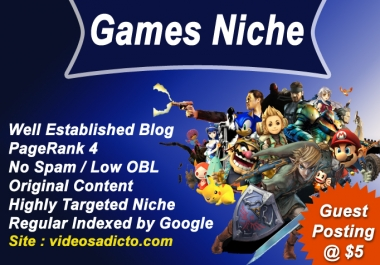 Guest Post on my PR4 Games Blog