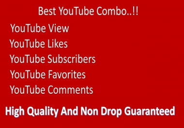 Super Fast 20000-25000 YouTube Views 300 Likes 200 subscribers, 300 favorites 18 comments