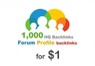 1000 forum profiles backlinks