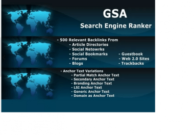 run GSA Search Engine Ranker to Create Niche Relevant Backlinks