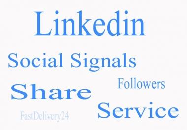 I Will Deliver Quality Social Signals 170 Linkedin