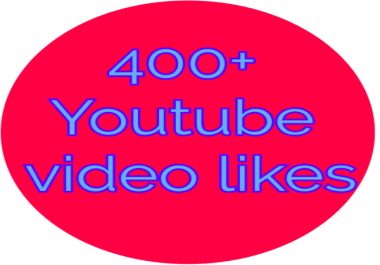 Provide 400 Real and Genuine  video likes