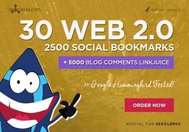 I will make 30 web 2,0 properties,2500 social bookmarks backlinks