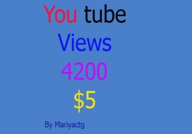 Super  Fast 4200-4500 Non Drop High Retention Youtube Views