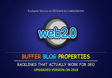 Premium Web 2.0 Blog Properties with Unique Content, Image & Video