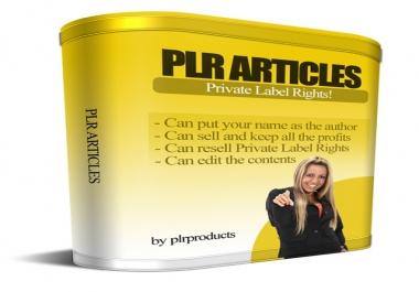 Massive 200,000 PLR Articles Collection