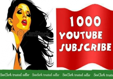 1000+Real High quality YouTube Subs-crib Channel Promote 12-96 Hours
