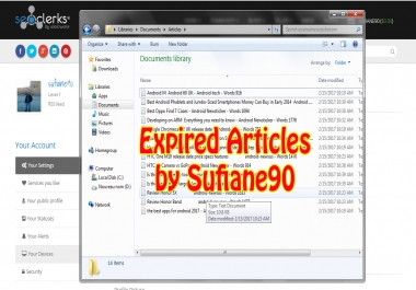 Provide 10 Expired Articles From Old Domains
