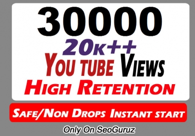 20000 to 22000 Or 20K to 22K YouTube Views